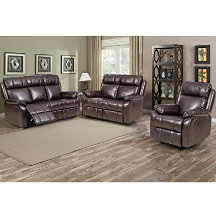 Amazon: Bestmassage Loveseat Chaise Reclining Couch Recliner Inside Most Up To Date Sofa And Chair Set (View 3 of 20)
