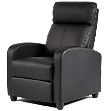 Amazon: Bestmassage Modern Leather Chaise Couch Single Recliner Regarding Famous Sofa Chair Recliner (View 2 of 20)