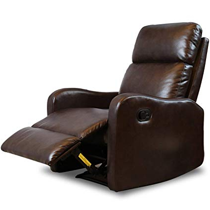 Amazon: Bonzy Recliner Chair Contemporary Chocolate Leather With Widely Used Hercules Chocolate Swivel Glider Recliners (View 12 of 20)