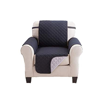 Amazon: Deluxe Reversible Chair Slipcover Recliner Furniture Pertaining To Latest Karen Sofa Chairs (Gallery 11 of 20)