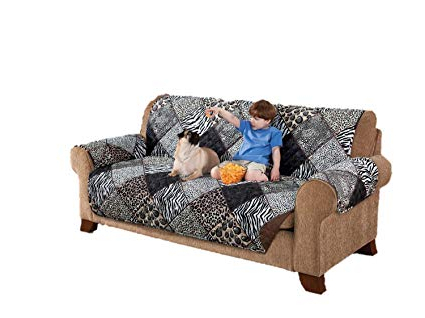 Amazon: Deluxe Reversible Couch Slipcover Furniture Protector For Favorite Karen Sofa Chairs (View 4 of 20)