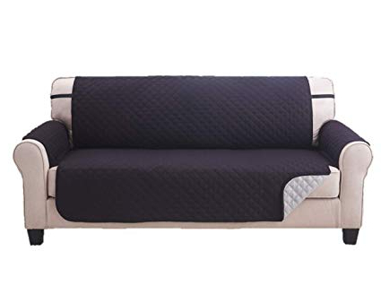 Amazon: Deluxe Reversible Sofa Furniture Protector, Black / Grey Pertaining To Current Karen Sofa Chairs (View 5 of 20)