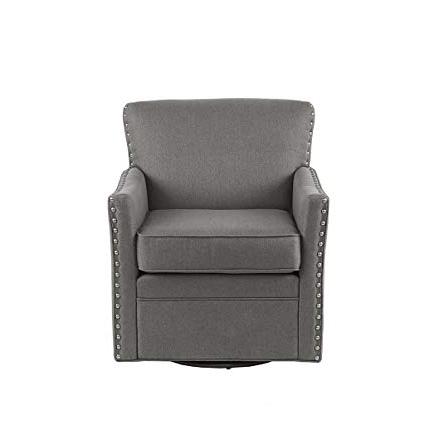 Amazon: Devrim Herringbone Texture Swivel Chair Dark Grey See Throughout Favorite Dark Grey Swivel Chairs (View 6 of 20)