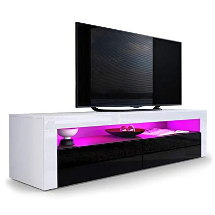 Amazon: Domovero Helios 157 Modern Tv Stand Cabinets For Living Inside Popular 24 Inch Deep Tv Stands (Gallery 1 of 20)