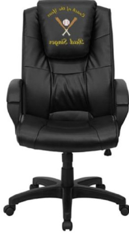 Amazon: Flash Furniture Dreamweaver Personalized Black Leather Pertaining To Well Known Leather Black Swivel Chairs (View 1 of 20)