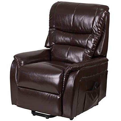 Amazon: Flash Furniture Hercules Series Brown Leather Remote Inside Famous Hercules Grey Swivel Glider Recliners (View 18 of 20)