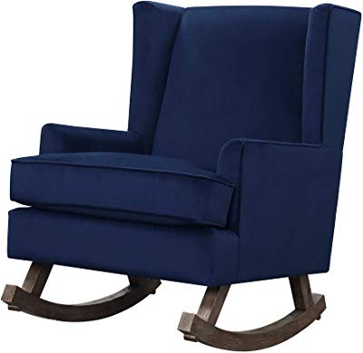 Amazon: Giantex Upholstered Rocking Chair Modern High Back With Well Known Abbey Swivel Glider Recliners (View 19 of 20)