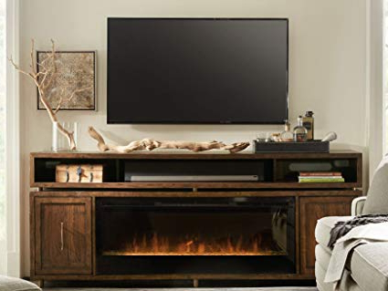 "Amazon: Hooker Furniture Big Sur 84"" Fireplace Tv Stand In Pertaining To Favorite Big Tv Stands Furniture (View 1 of 20)"