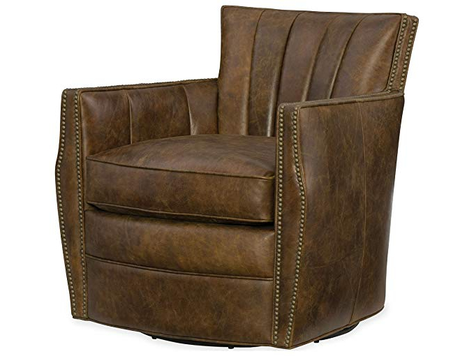 Amazon: Hooker Furniture Carson Leather Swivel Club Chair In In Most Up To Date Swivel Tobacco Leather Chairs (View 5 of 20)