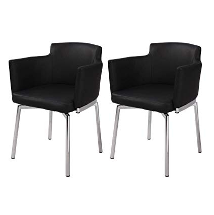 Amazon: Milan Denise Club Style Swivel Arm Chair (Set Of 2 Pertaining To Best And Newest Circuit Swivel Accent Chairs (View 2 of 20)