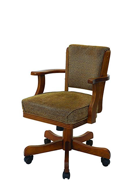 Amazon: Mitchell Upholstered Arm Game Chair Olive Brown And In Preferred Mitchell Arm Sofa Chairs (View 2 of 20)