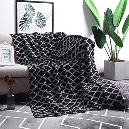 [%Amazon: Moma 100% Cotton Black Cable Knit Throw Blanket For Inside Trendy Cotton Throws For Sofas And Chairs|Cotton Throws For Sofas And Chairs Within Most Recent Amazon: Moma 100% Cotton Black Cable Knit Throw Blanket For|Best And Newest Cotton Throws For Sofas And Chairs For Amazon: Moma 100% Cotton Black Cable Knit Throw Blanket For|Trendy Amazon: Moma 100% Cotton Black Cable Knit Throw Blanket For Regarding Cotton Throws For Sofas And Chairs%] (View 4 of 20)