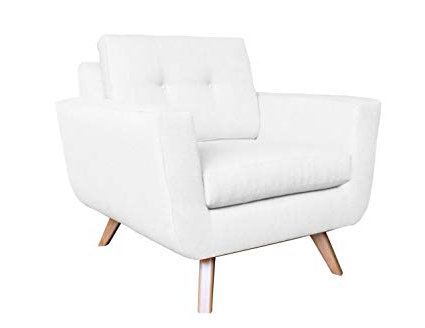 Amazon: Poshbin Callie Mid Century Modern Chair, White: Kitchen Intended For Fashionable Callie Sofa Chairs (View 14 of 20)