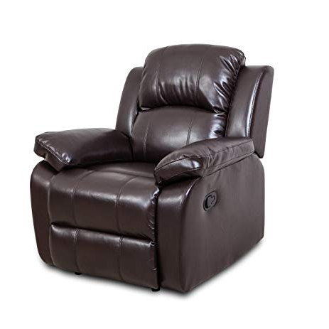Amazon: Recliner Single Sofa Chair Bonded Leather Reclining Throughout Latest Sofa Chair Recliner (View 4 of 20)