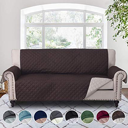 Amazon: Rhf Reversible Sofa Cover, Couch Covers For 3 Cushion For Favorite Covers For Sofas And Chairs (View 1 of 20)