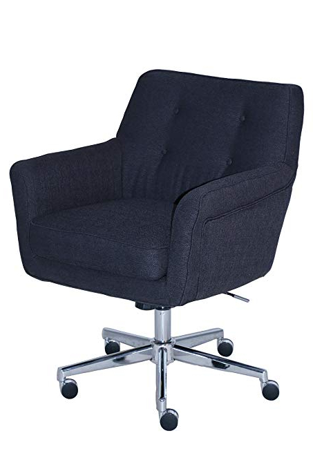 Amazon: Serta Style Ashland Home Office Chair, Twill Fabric For 2018 Katrina Blue Swivel Glider Chairs (View 6 of 20)