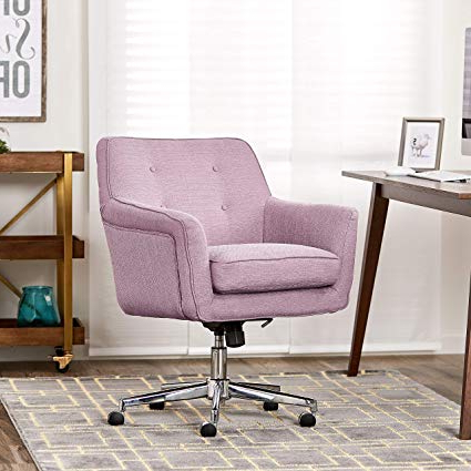 Amazon: Serta Style Ashland Home Office Chair, Twill Fabric For Well Liked Katrina Blue Swivel Glider Chairs (View 15 of 20)