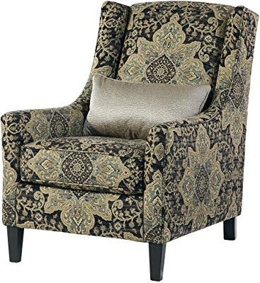 Amazon: Stone & Beam Sadie Buffalo Check Wingback Chair: Kitchen Throughout Current Sadie Ii Swivel Accent Chairs (View 20 of 20)