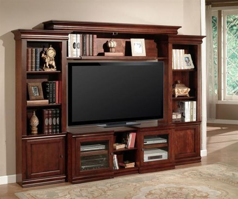 Amor 43 60 Inch Tv 4 Piece Expendable Premier Wall Unit In Vintage For Trendy 60 Inch Tv Wall Units (View 7 of 20)