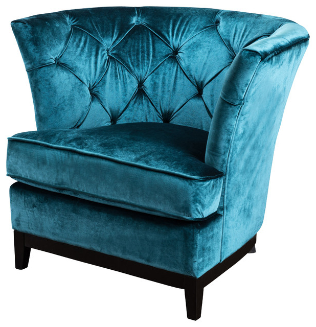 Anabella Fabric Tufted Sofa Chair – Midcentury – Armchairs And Throughout Most Recently Released Sofa Chairs (View 2 of 20)