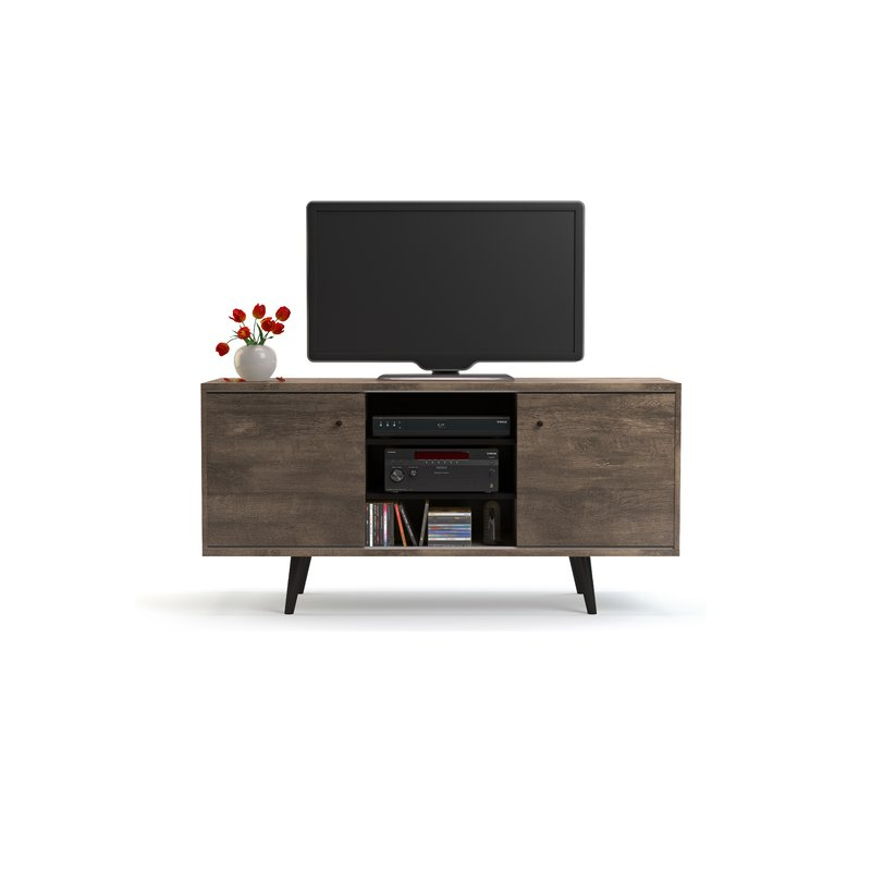 """Annabelle Black 70 Inch Tv Stands Intended For Fashionable Norloti Tv Stand For Tvs Up To 58"""" & Reviews (View 7 of 20)"""