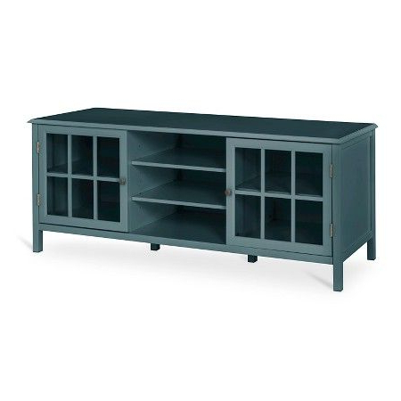 Annabelle Blue 70 Inch Tv Stands With Well Liked Windham Large Tv Stand Blue Overcast – Threshold™ : Target (View 4 of 20)