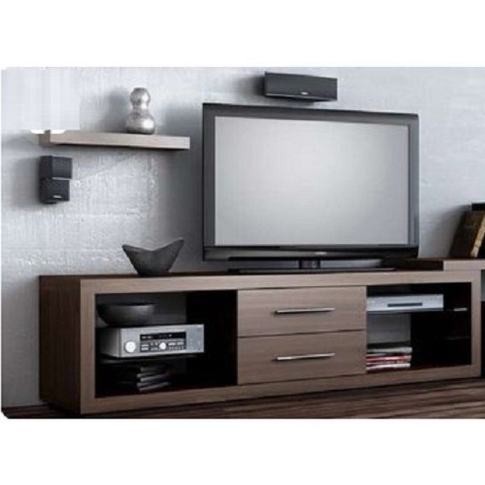 Annabelle Cream 70 Inch Tv Stands Throughout Favorite Universal Tv Stand With Center Drawers – Brown (Delivery Within (View 5 of 20)