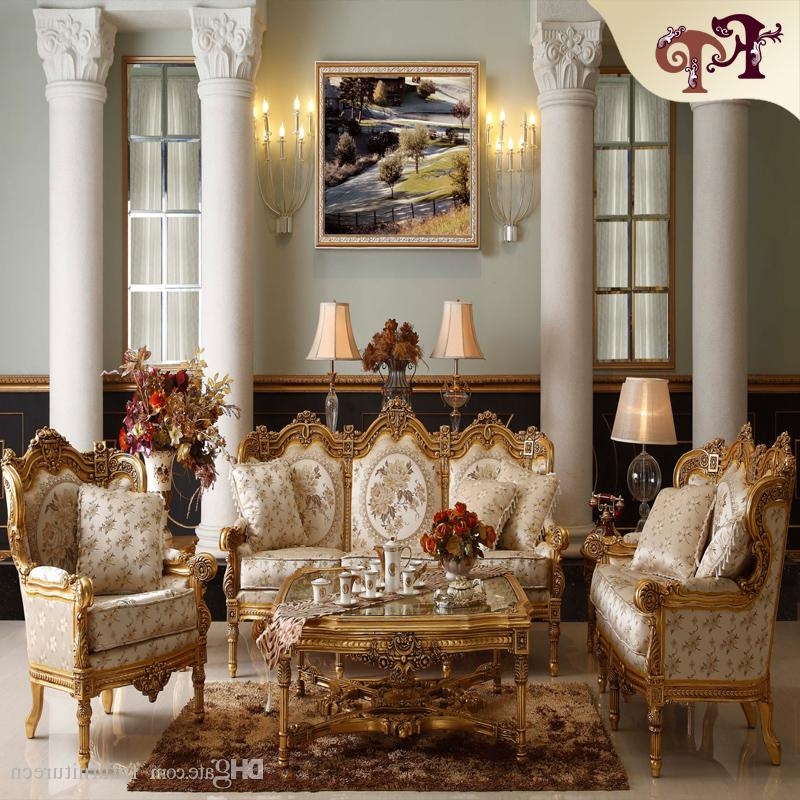 Antique Sofa Chairs In Newest 2019 Baroque Living Room Sofa Furniture Antique Classic Sofa Set (Gallery 12 of 20)