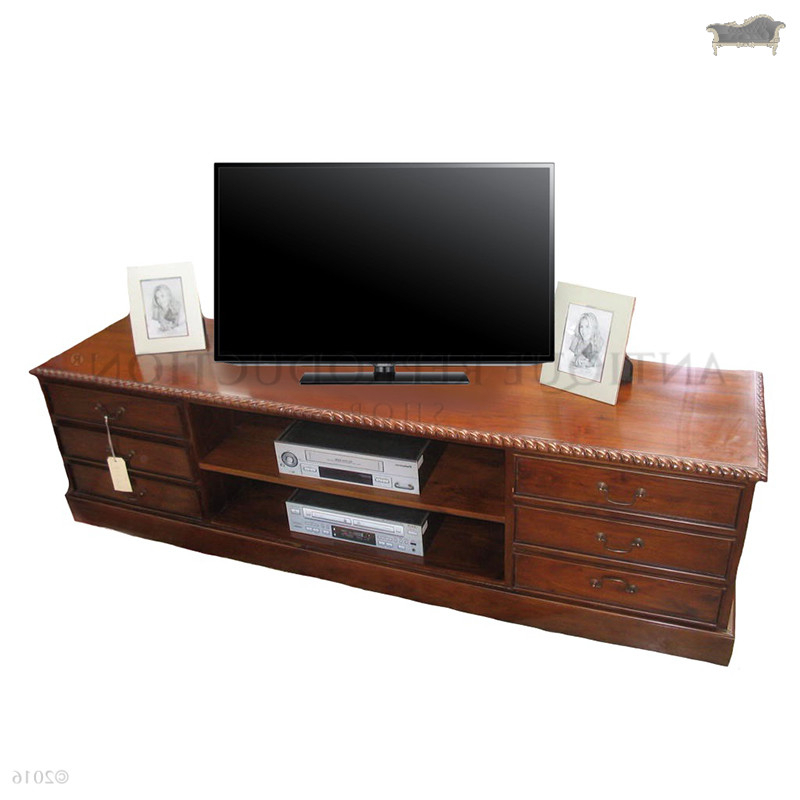Antique Style Tv Stands Throughout Favorite Tv Stand 6 Drawer Chippendale Antique Reproduction Style – Antique (View 6 of 20)