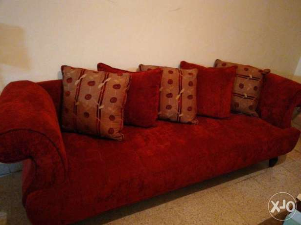 Archive: Dark Red Furniture 2 Sofas 2 Chairs Vry Gd Malaab – Olx Lebanon Regarding Famous Red Sofas And Chairs (View 4 of 20)