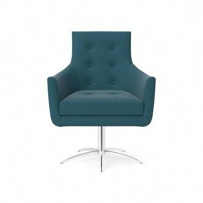 Archway Swivel Chair, Standard Cushion, Signature Velvet, Cyan With Well Liked Nichol Swivel Accent Chairs (Gallery 11 of 20)