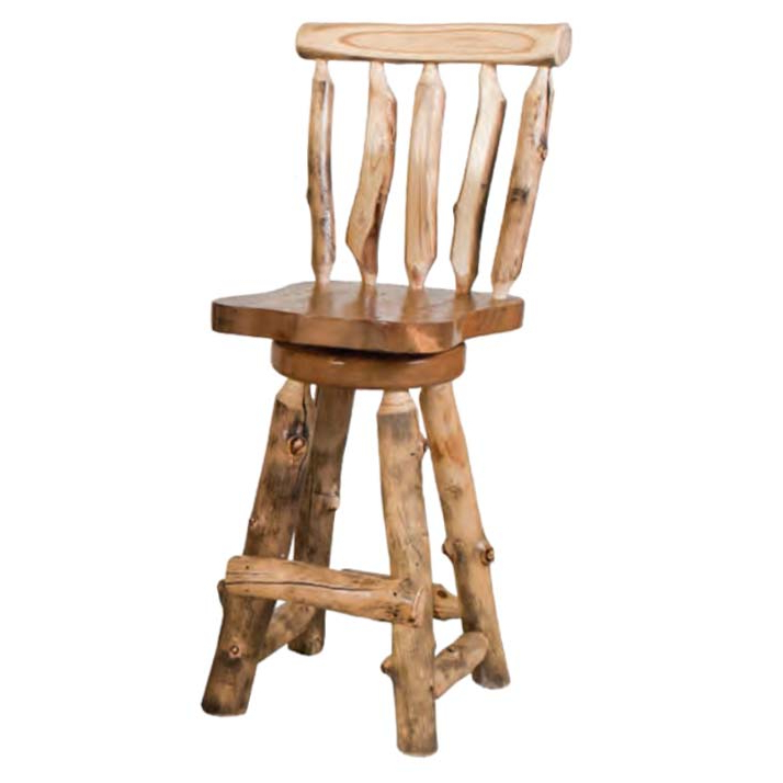 Aspen Swivel Chairs Inside Best And Newest Aspen Log Swivel Bar Stools ~ Bestcraft Furniture – The Log (View 3 of 20)