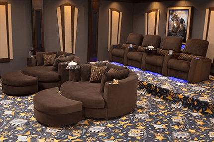 Aspen Swivel Chairs With Famous Seatcraft Aspen & Swivel Cuddle Seats Home Theater Collection, Bella (View 6 of 20)