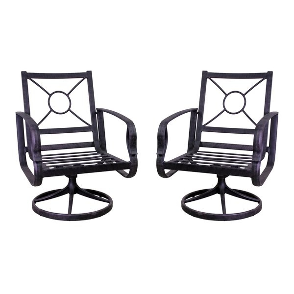 Aspen Swivel Chairs With Regard To Most Recently Released Shop Aspen Swivel Rocking Chair Set – Free Shipping Today (View 8 of 20)