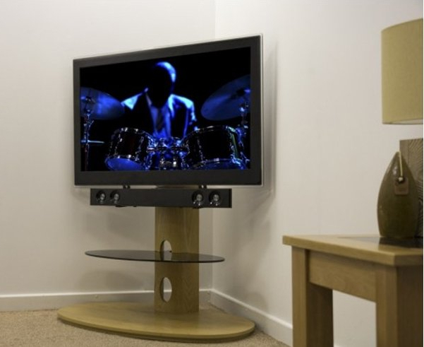 Avf Chepstow Oak Cantilever Tv Stand For Latest Avf Tv Stands (Gallery 2 of 20)