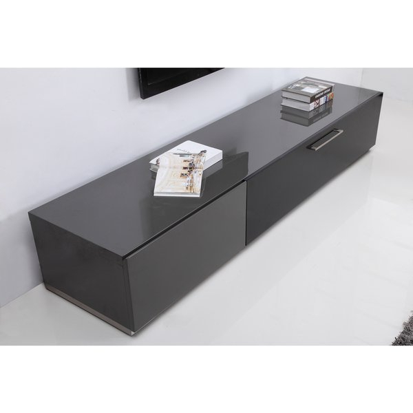 B Modern Tv Stands In Well Known Shop B Modern Producer Grey/ Black/ Steel Modern Tv Stand With Ir (View 4 of 20)