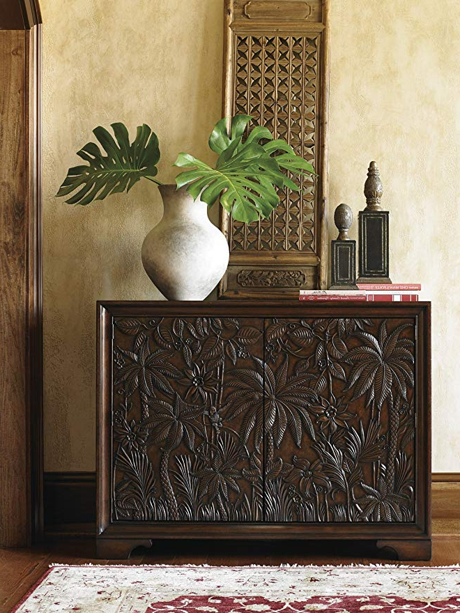 Balboa Carved Console Tables Intended For Widely Used Amazon: Landara – Balboa Carved Door Chest: Kitchen & Dining (Gallery 20 of 20)