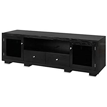 Bale 82 Inch Tv Stands Intended For Most Recent Haven Ex 82 Inch Solid Wood Tv Stand / Tv Console / Media Console For Flat Screen Tvs To 90 Inchstandout Designs (Black On Ash) (Gallery 2 of 20)