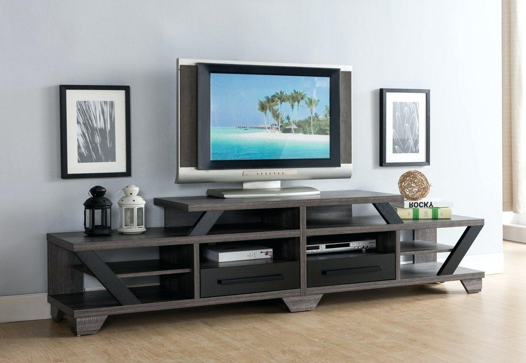 Bale 82 Inch Tv Stands With Trendy Blackwelder 82 Tv Stand Stands The Home Depot P – Probanki (Gallery 1 of 20)