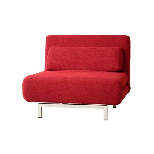 Baxton Studios Romano Convertible Sofa Chair Bed, Red (View 2 of 20)