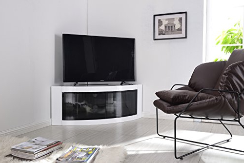 Beam Thru Tv Cabinets Throughout Most Current Centurion Supports Pangea Gloss White Beam Thru Curved: Amazon.co (View 5 of 20)