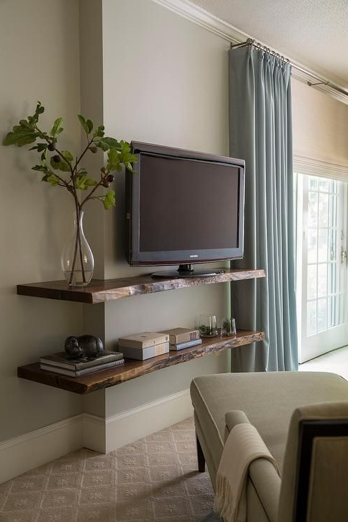 Featured Photo of Bedroom Tv Shelves