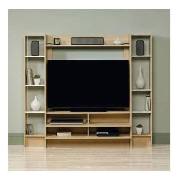 Beech Tv Stands Regarding Popular Beech White Wooden Tv Stand Console Wall Entertainment Center Home (Gallery 15 of 20)