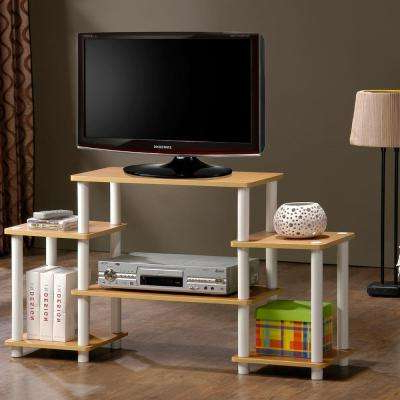 Beech Tv Stands Throughout Most Recently Released Beech – Tv Stands – Living Room Furniture – The Home Depot (View 2 of 20)