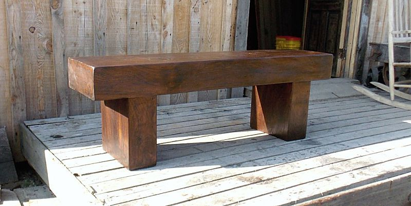 Bench Tv Stands Regarding Well Known Custom Massive Walnut Timber Bench/coffee Table/tv Standpaul's (View 7 of 20)