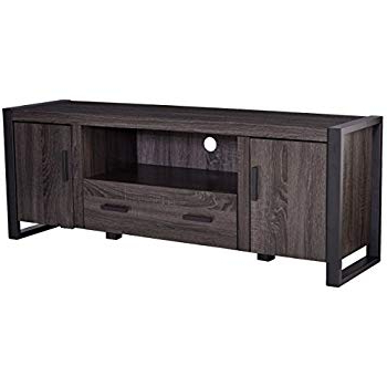 "Best And Newest Amazon: Walker Edison Furniture 60"" Wood Console Media Tv Stand Within Abbott Driftwood 60 Inch Tv Stands (Gallery 13 of 20)"