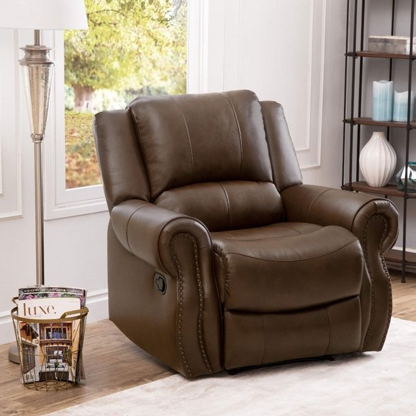 Best And Newest Mesa Foam Oversized Sofa Chairs Throughout Shop Abbyson Calabasas Mesa Brown Leather Recliner – Free Shipping (Gallery 6 of 20)