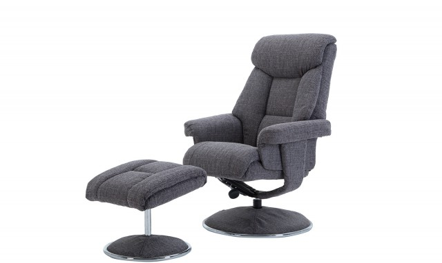 Best And Newest Orion – Swivel Chair And Stool In Lisbon Grey – All Chairs – Fishpools Regarding Grey Swivel Chairs (View 3 of 20)