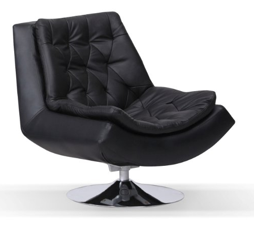 Best And Newest Sofa Furniture Uk: Capella Real And Faux Leather Iris Swivel Chair Regarding Leather Black Swivel Chairs (View 3 of 20)