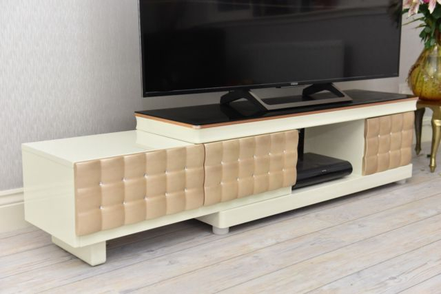 Big Tv Stands Furniture Pertaining To Current Modern High Gloss Large Big Tv Stand Unit Cabinet Drawer Wood Glass (View 3 of 20)